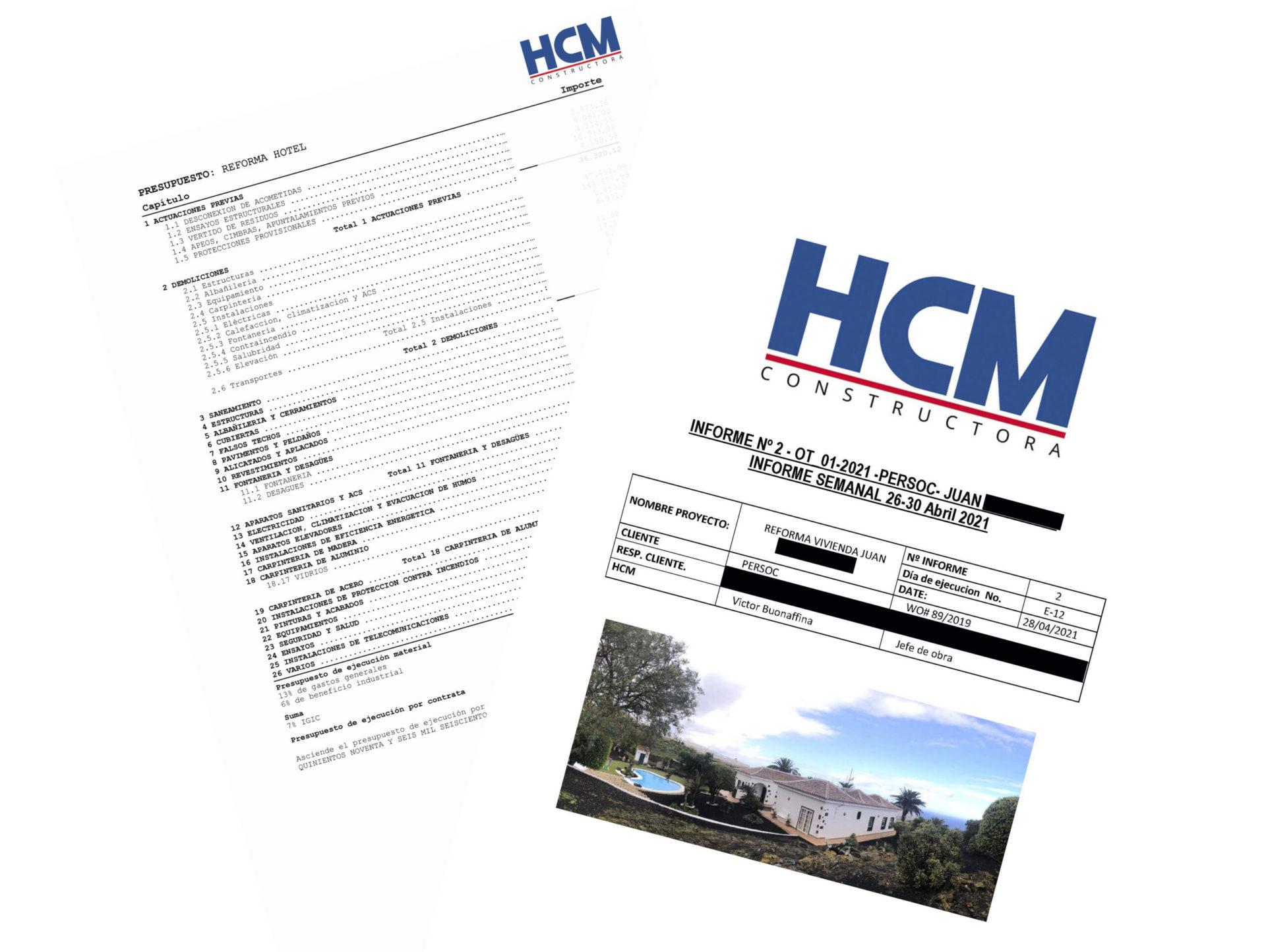 Presupuesto y reporte Semanal HCM